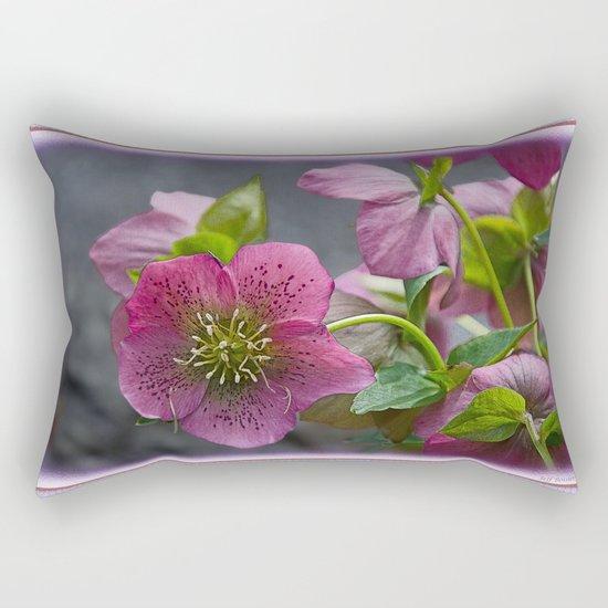 HELLEBORUS NIGERCORS FLOWER Rectangular Pillow