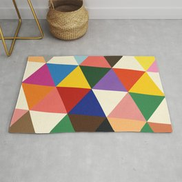 Color And Shape Triangles Rug