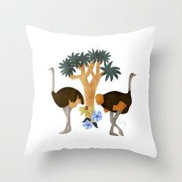 Somali Ostrich / Wildlife Birds  Throw Pillow