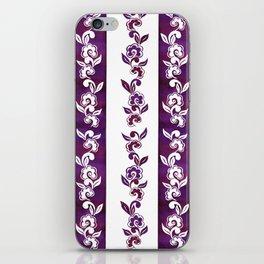 Striped in plumful florals iPhone Skin