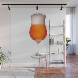 Elegant Beer Glass Wall Mural