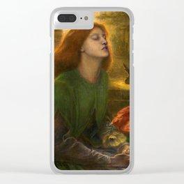 Beata Beatrix by Dante Gabriel Rossetti, 1864 Clear iPhone Case