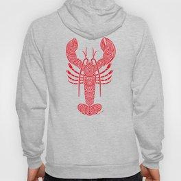Tribal Maine Lobster on White Hoody