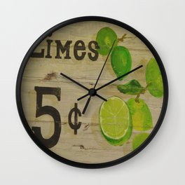 Limes for 5 cents Wall Clock