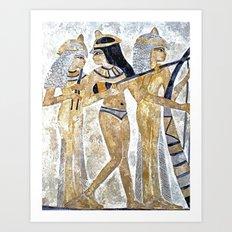 Egyptian Musicians Art Print