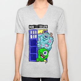Monsters in Time and Space! Doctor Who Meets Monsters Inc. University Unisex V-Neck