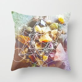 backyard stones Throw Pillow