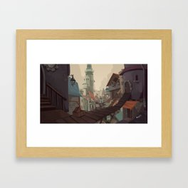 Inside the city walls Framed Art Print
