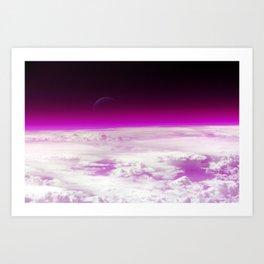 Purple Atmosphere Art Print