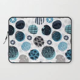 Blue Pebbles Laptop Sleeve