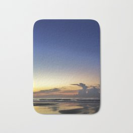 Smiling Moon Over Sunrise Bath Mat