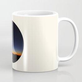 Orange & Blue Sunset Over The Australian Outback Round Photo Coffee Mug