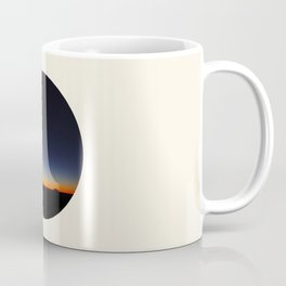 Orange & Blue Sunset Over The Australian Outback Round Photo Coffee Mug