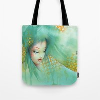 russian Tote Bags featuring russian by Misstigri