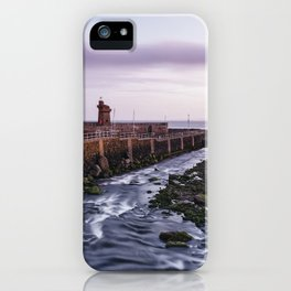 Lynmouth Harbour at dawn twilight. Devon, UK. iPhone Case