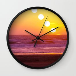 Outer Sunset Wall Clock