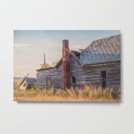 Falling Farm House, North Dakota 10 Metal Print