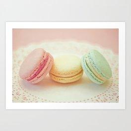 Pastel Macarons Art Print