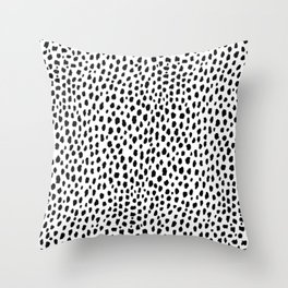 Dalmatian Spots (black/white) Throw Pillow