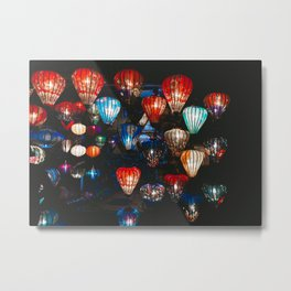 Lanterns in the Night Market, Hoi An, Vietnam Metal Print