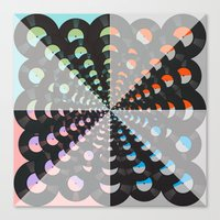 records Canvas Prints featuring Records by Ornaart