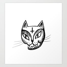 Satan Kitty Art Print