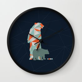 Geo Bear Wall Clock