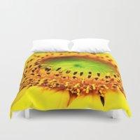 sunflower Duvet Covers featuring Sunflower by Falko Follert Art-FF77