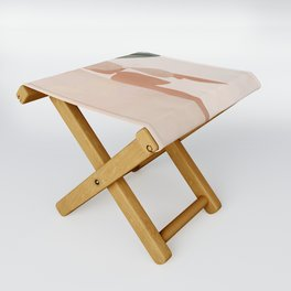 Abstract Woman in a Dress Folding Stool