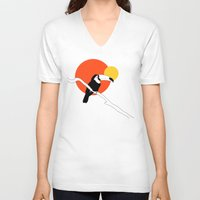 toucan V-neck T-shirts featuring Toucan by Rebekhaart
