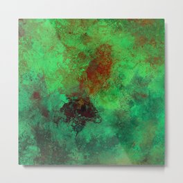Isolation - Abstract, textured painting Metal Print