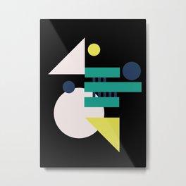 MidMod Shapes (series 3) Night Metal Print