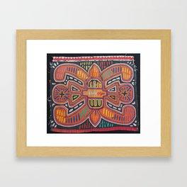 Flower Mola Framed Art Print