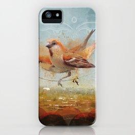 Kathmandu Cinnamon Sparrows iPhone Case