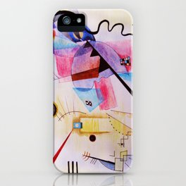 inspiration from Kandinsky . artwork iPhone Case