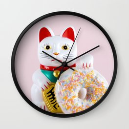 Maneki Donut Wall Clock