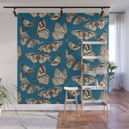 summer butterflies blue Wall Mural