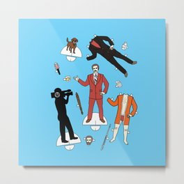 Cut It Out: Ron Burgundy Metal Print