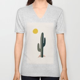 Cactus and the Rising Sun Unisex V-Neck