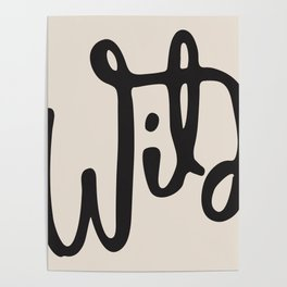 wild abstract Poster