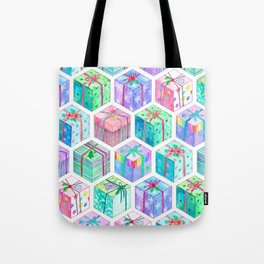 Christmas Gift Hexagons Tote Bag