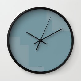 Pastel blue pattern Wall Clock