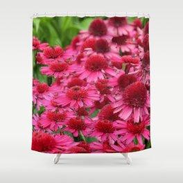 FUCHSIA PINK ECHINACEA GARDEN FLORAL Shower Curtain