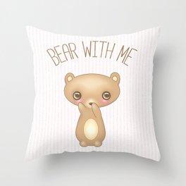 Bear With Me - Creepy Cute Teddy Throw Pillow