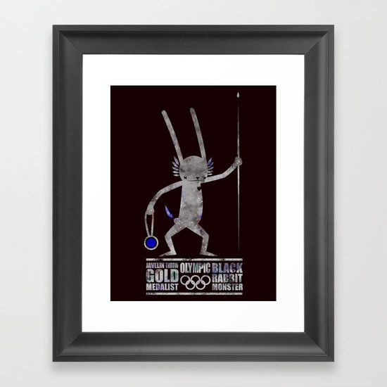 출전 CHAMPION - Olympic Dedicationg Framed Art Print
