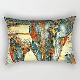 AnimalArt_Elephant_20170903_by_JAMColorsSpecial Rectangular Pillow