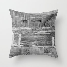 Amphitheater in Petra, Jordan Throw Pillow