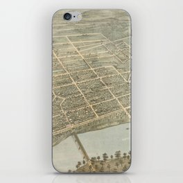 Vintage Pictorial Map of Wilkes Barre PA (1872) iPhone Skin