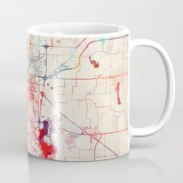 Springfield map Illinois painting Coffee Mug