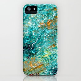 """Leprechaun's Koi Pond"" Painting iPhone Case"